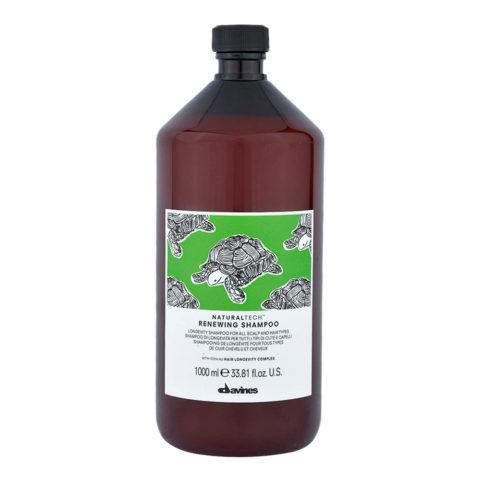 Davines Naturaltech Renewing Shampoo 1000ml - shampoo di longevità tutti i tipi di capelli