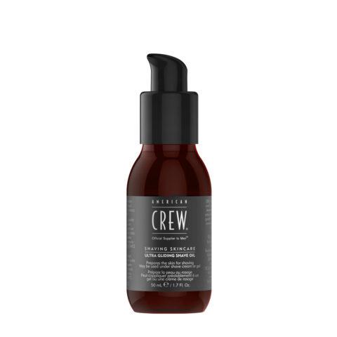 American crew Shave Ultra Gliding Shave Oil 50ml - olio protettivo pre-rasatura