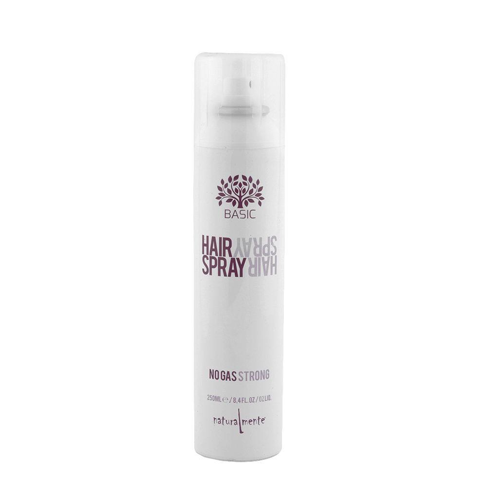 Naturalmente Basic Hairspray Strong 250ml - lacca tenuta forte