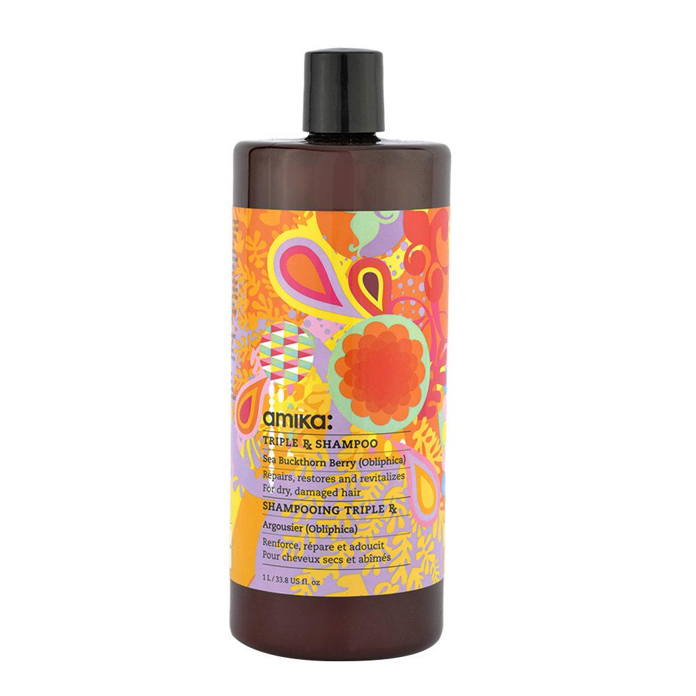 amika: Treatment Triple Rx Shampoo 1000ml - shampoo con cheratina per capelli danneggiati