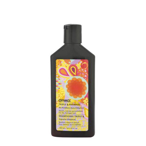 amika: Treatment Triple Rx Shampoo 300ml - shampoo con cheratina per capelli danneggiati