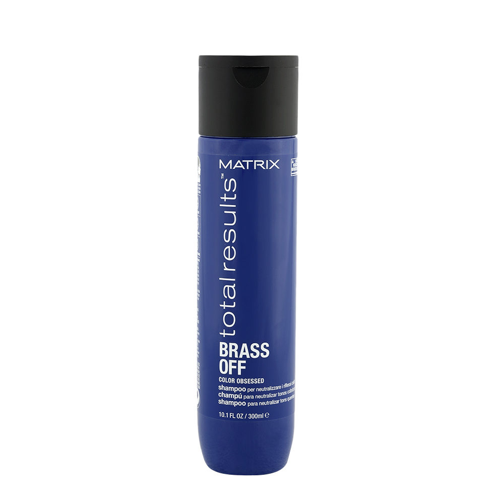 Matrix Total Results Brass Off Shampoo 300ml - shampoo antigiallo