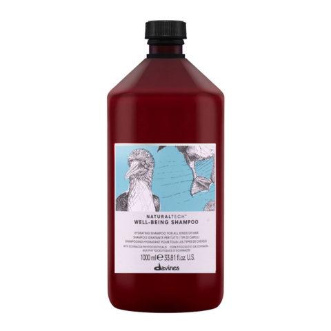 Davines Naturaltech Wellbeing Shampoo 1000ml - Shampoo idratante