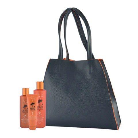 Tecna Monoi Suncare Kit Shampoo 250ml Treatment 150ml Fluid Shield 200ml Omaggio Sun bag