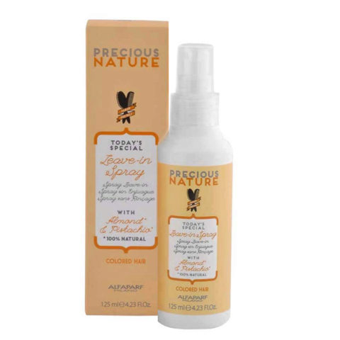 Alfaparf Precious Nature Leave-In Spray With Almond & Pistachio For Colored Hair 125ml - Balsamo Senza Risciacquo
