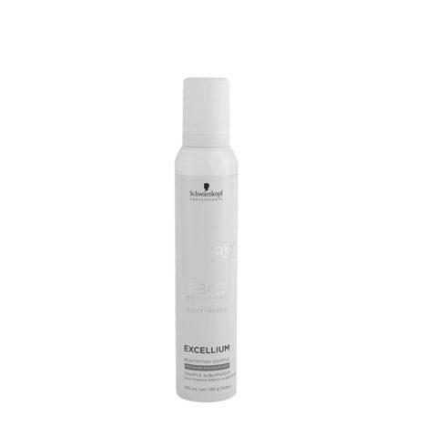 Schwarzkopf BC Excellium Beautifying Silver Souffle 200ml - mousse anti-giallo per capelli grigi o bianchi