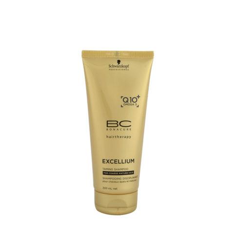 Schwarzkopf BC Excellium Taming Shampoo 200ml - disciplinante per capelli maturi e grossi