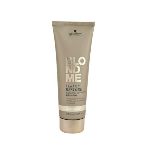 Schwarzkopf Blond Me Keratin Restore Bonding Shampoo Sulfate free 250ml - shampoo di ricostruzione