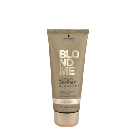 Schwarzkopf Blond Me Keratin Restore Bonding Conditioner 200ml - balsamo di ricostruzione