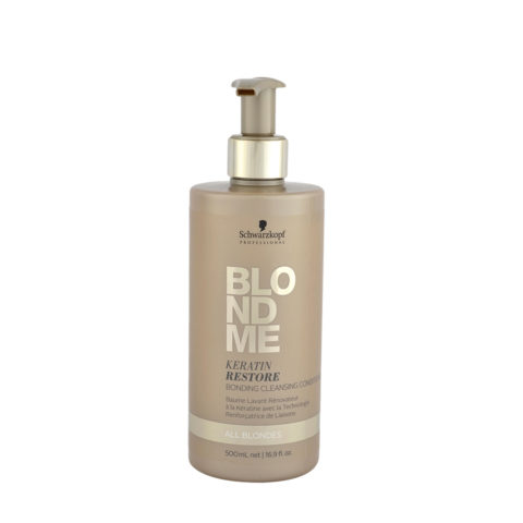 Schwarzkopf Blond Me Keratin Restore Bonding Cleansing Conditioner 500ml - balsamo di ricostruzione