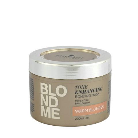 Schwarzkopf Blond Me Tone Enhancing Bonding Mask Warm Blondes 200ml - maschera per biondi caldi