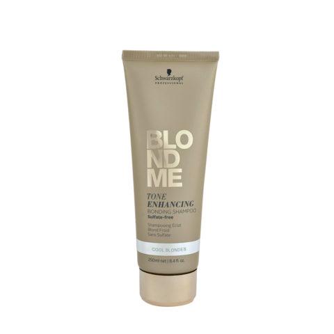 Schwarzkopf Blond Me Tone Enhancing Bonding Shampoo Sulfate free 250ml - shampoo neutralizzante toni gialli