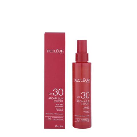 Decléor Aroma Sun Huile d'été corps et cheveux SPF30, 150ml - olio corpo e capelli