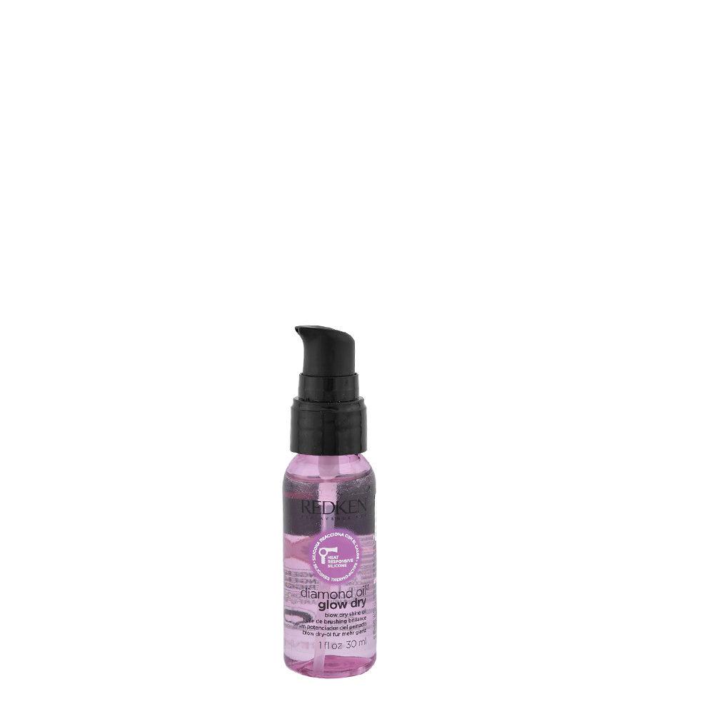 Redken Diamond oil Glow dry oil 30ml - Olio secco ultraleggero pre-piega