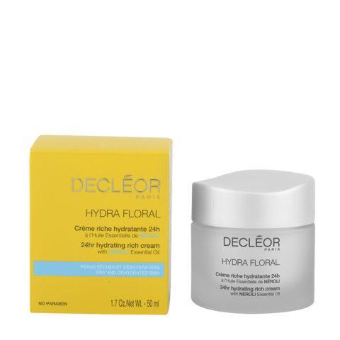 Decléor Hydra Floral Neroli Crème riche hydratante 24h, 50ml - crema idratante ricca