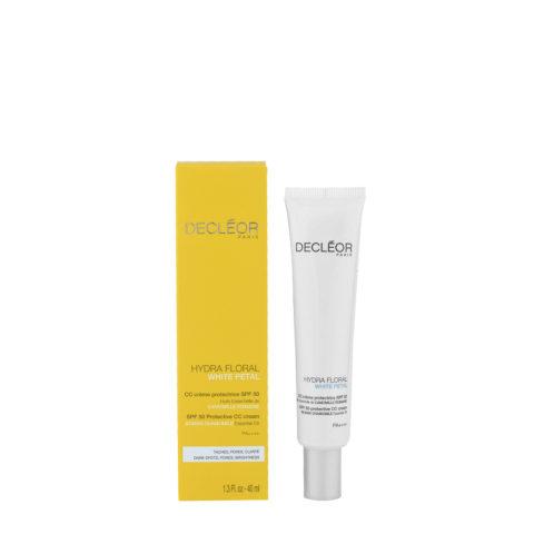 Decléor Hydra Floral White Petal CC Crème Protectrice SPF50, 40ml - crema protettiva