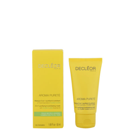 Decléor Aroma Pureté Ylang-Ylang Masque 2 en 1 purifiant & exfoliant 50ml - maschera purificante