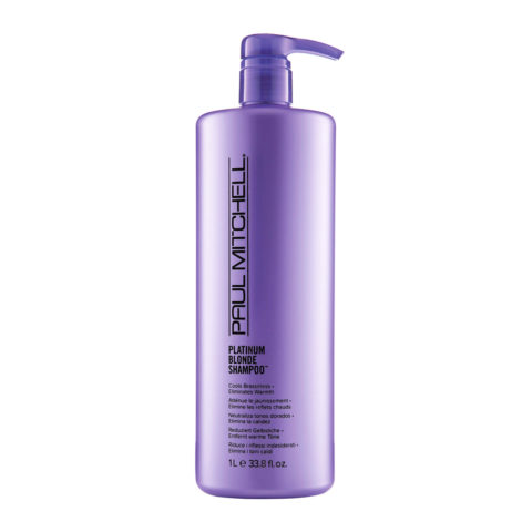 Paul Mitchell Blonde Platinum blonde shampoo 1000ml - capelli biondi, grigi o bianchi