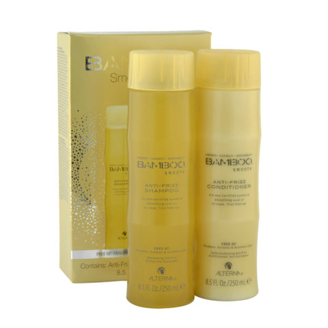 Alterna Bamboo Smooth Duo Shampoo 250ml Conditioner 250ml - per capelli crespi
