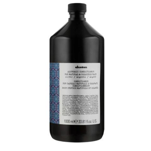 Davines Alchemic Conditioner Silver 1000ml - balsamo antigiallo capelli biondo platino