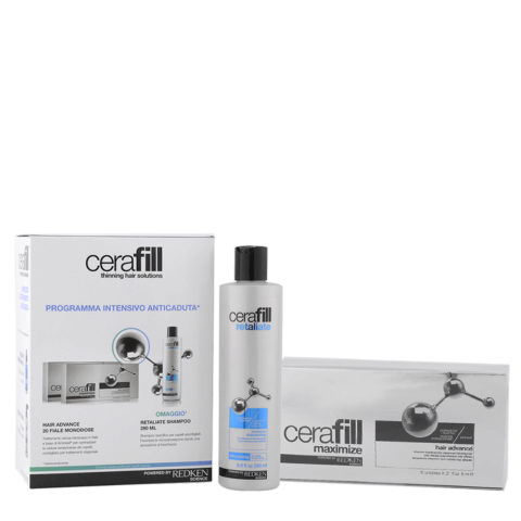 Redken Cerafill Kit anticaduta intensivo Retaliate shampoo 290ml Maximize Hair advance 20x6ml