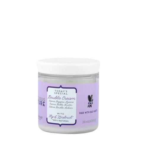Alfaparf Precious Nature Bad Hair Habits Double Cream 200ml - Maschera Ristrutturante Doppia Azione