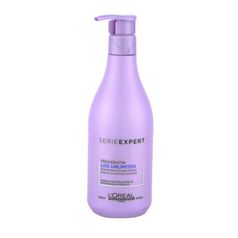 L'Oreal ProKeratin Liss Unlimited Shampoo 500ml - shampoo anticrespo lisciante