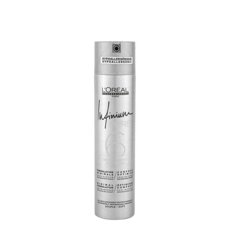 L'Oreal Hairspray Infinium Pure Soft 300ml - lacca inodore tenuta leggera