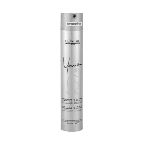 L'Oreal Hairspray Infinium Pure Soft 500ml - lacca inodore tenuta morbida