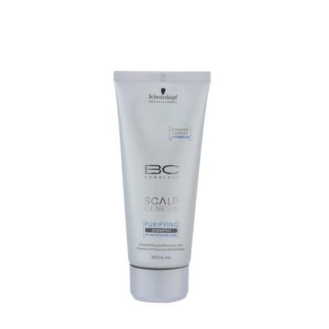 Schwarzkopf BC Bonacure Scalp Genesis Purifying Shampoo 200ml - detossinante per capelli grassi