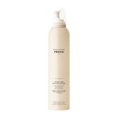 Previa Finish Organic Hydrolized Verbascum Thapsus Flower Mousse 300ml - schiuma extra forte
