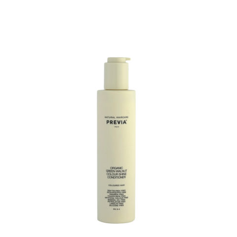 Previa Keeping Organic Green walnut colour shine Conditioner 200ml - balsamo capelli colorati