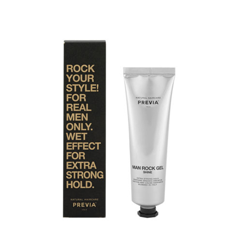 Previa Man Rock Gel Shine 100ml - tenuta extra forte