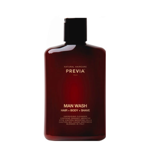 Previa Man Wash hair body shave 250ml - shampoo doccia uomo