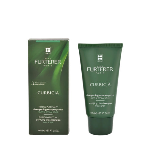 René Furterer Curbicia Purifying Clay Shampoo 100ml - Shampoo Maschera Purificante Cute Grassa