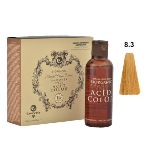 8.3 Biondo chiaro dorato Tecna NCC Biorganic acid color 3x130ml