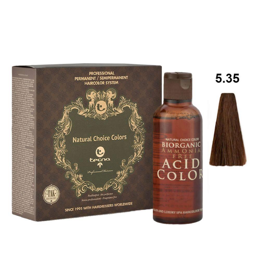 5.35 Castano chiaro wood naturale Tecna NCC Biorganic acid color 3x130ml