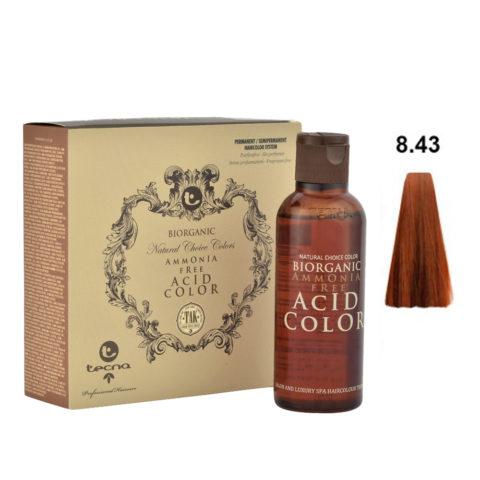8.43 Biondo chiaro rame dorato Tecna NCC Biorganic acid color 3x130ml