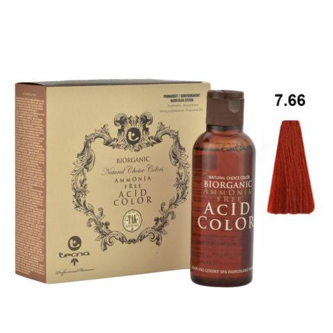 7.66 Biondo medio rosso intenso Tecna NCC Biorganic acid color 3x130ml