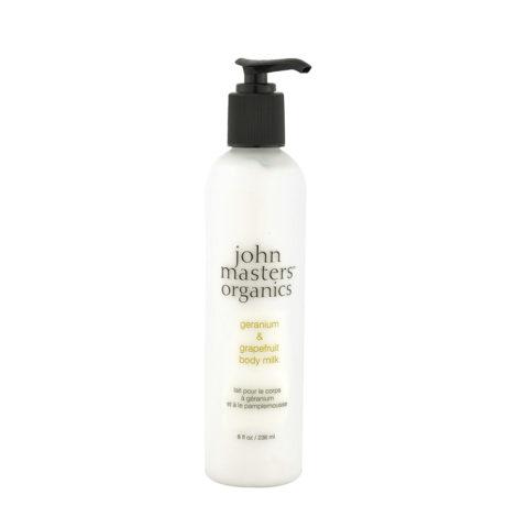 John Masters Organics Geranium & Grapefruit Body Milk 236ml - latte corpo al geranio e pompelmo