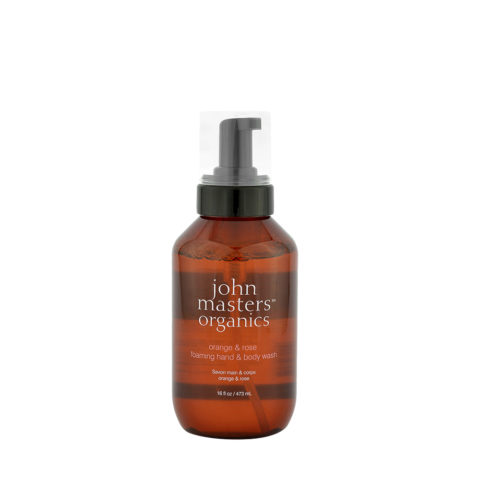 John Masters Organics Orange & Rose Foaming hand & body Wash 473ml - detergente mani/corpo