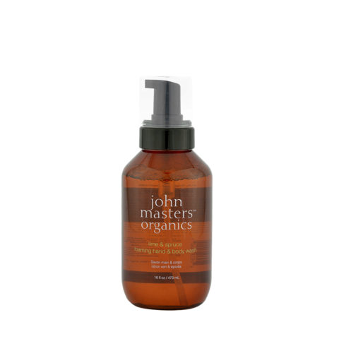 John Masters Organics Lime & Spruce Foaming hand & body Wash 473ml - detergente mani/corpo