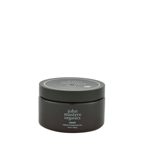 John Masters Organics Sweet Raspberry & Orange Body Scrub 136,2gr - scrub corpo