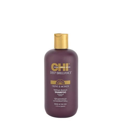 CHI Deep brilliance Olive & Monoi Optimum Moisture Shampoo 355ml - shampoo lucidante idratante