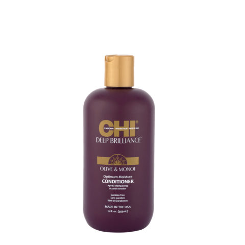 CHI Deep brilliance Olive & Monoi Optimum moisture Conditioner 355ml - balsamo lucidante idratante