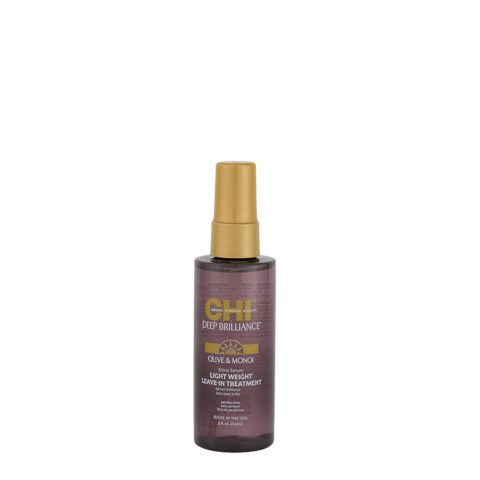 CHI Deep brilliance Olive & Monoi Shine serum Light weight Leav in treatment 89ml - siero leggero lucidante
