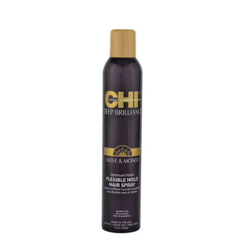 CHI Deep brilliance Olive & Monoi Flexible hold Hairspray 284gr - lacca lucidante