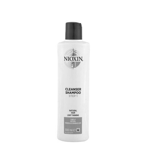 Nioxin Sistema1 Cleanser Shampoo 300ml - capelli naturali diradati