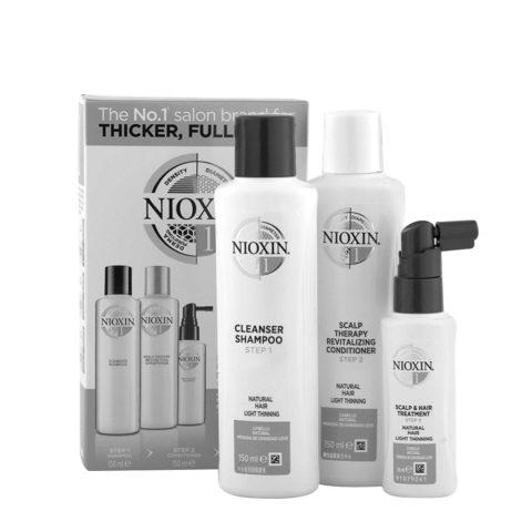 Nioxin Sistema1 Pacchetto completo - capelli naturali diradati