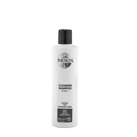Nioxin Sistema2 Cleanser Shampoo 300ml - capelli naturali visibilmente deboli e radi